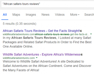African Safaris Tours Reviews Screenshot