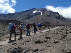 People Climbing the Kilimanjaro