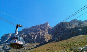Cable Car over Table Mountain