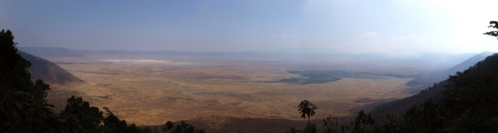 Panoramic View of the Ngorongoro Crater