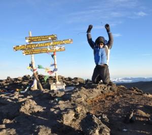 Man jumping on the Kilimanjaro