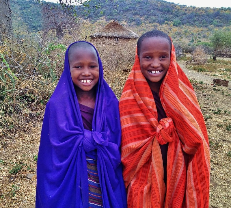 Children of the Maasai Village