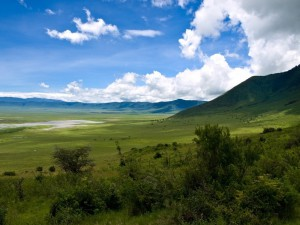 View of the Ngorongoro Crater
