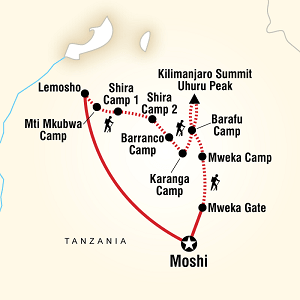 Itinerary Lemosho Route