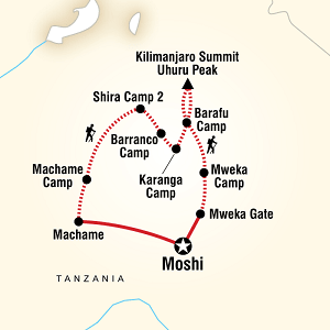 Itinerary Machame Route
