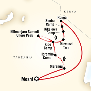 Itinerary Rongai Route
