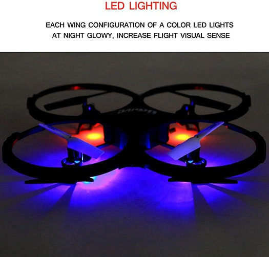 UDI 818A HD Drone - Night Mode